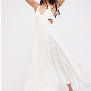 NWOT Free people Lille Maxi dress in white